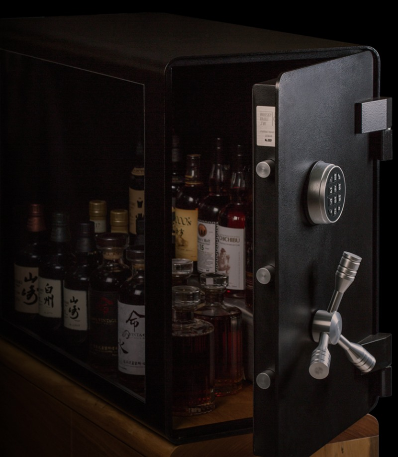 Bulletproof Whisky Vault Displays Your Booze Safely