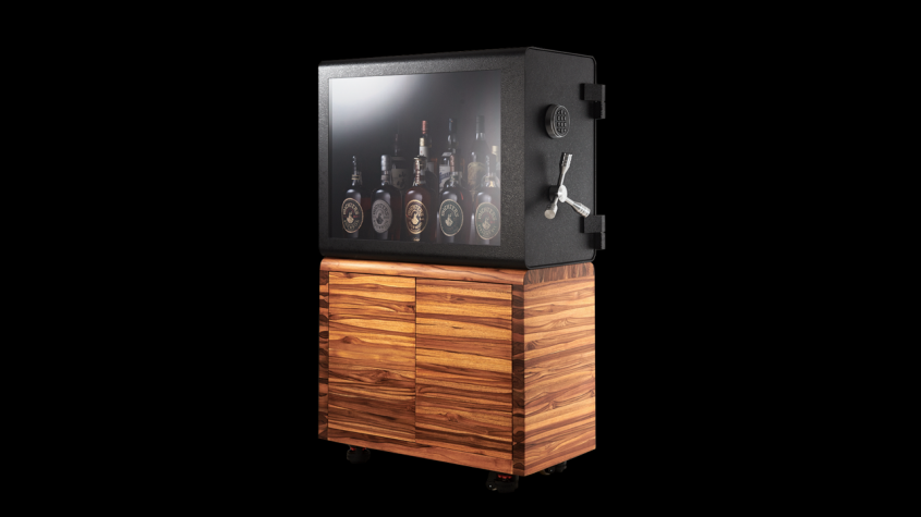 Bulletproof Whisky Vault Displays Your Booze Safely