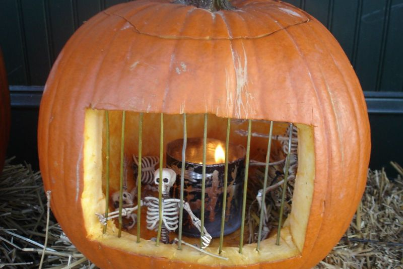 Pumpkin Jail for Halloween