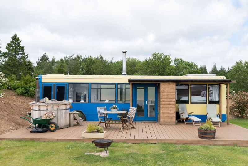 Converted Bus Hotel in Scotland You can Rent on Airbnb