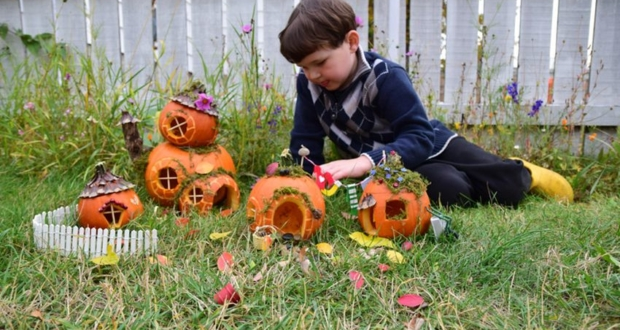 DIY Pumpkin Fairy Garden for Halloween