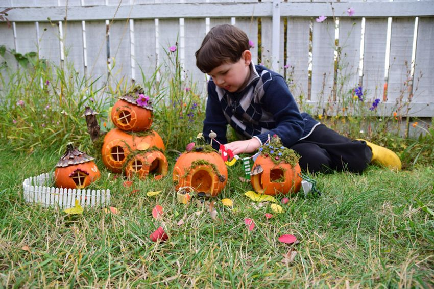 DIY Pumpkin Fairy Garden for Halloween