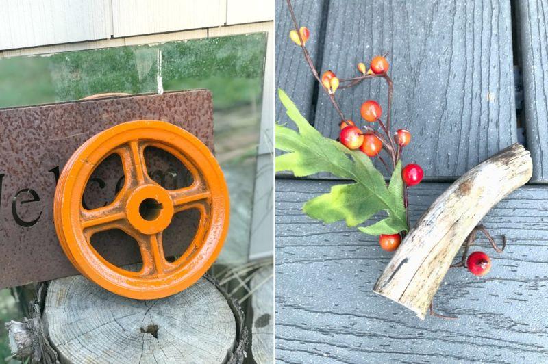 Decorate Your Yard with DIY Metal Wheel Halloween Pumpkin