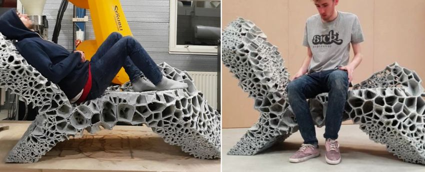 Delft University of Technology 3D printed chaise lounge - Chair Design