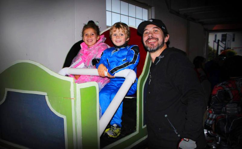 Engineer Dad Builds Disney-Inspired Roller Coaster Ride in Basement