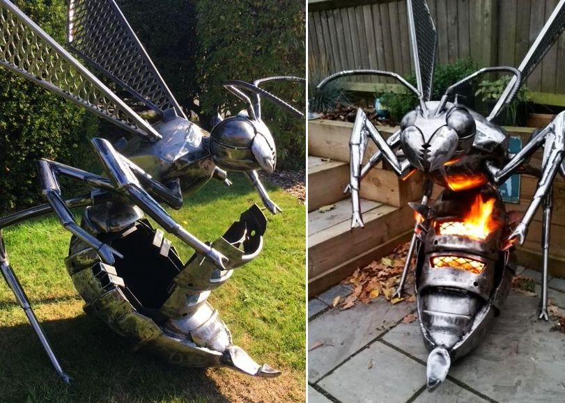 fighting hornet fire pit by burned by design diy. Black Bedroom Furniture Sets. Home Design Ideas