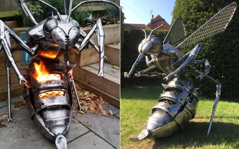 Fighting Hornet Fire Pit by Burned by Design