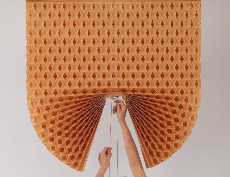 Go Minimal in Your Home with Natchar Sawatdichai's Paper Blinds