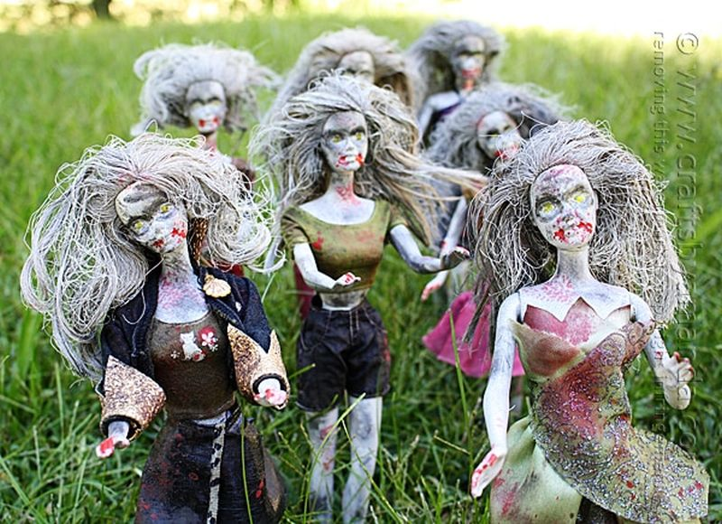 How About Making Zombie Barbie Dolls for Halloween