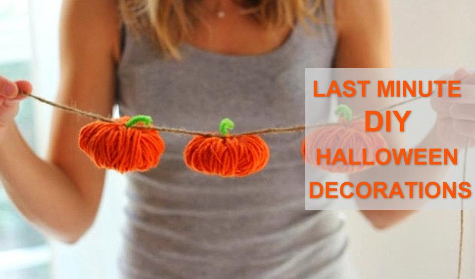 Last Minute DIY Halloween Decoration Ideas