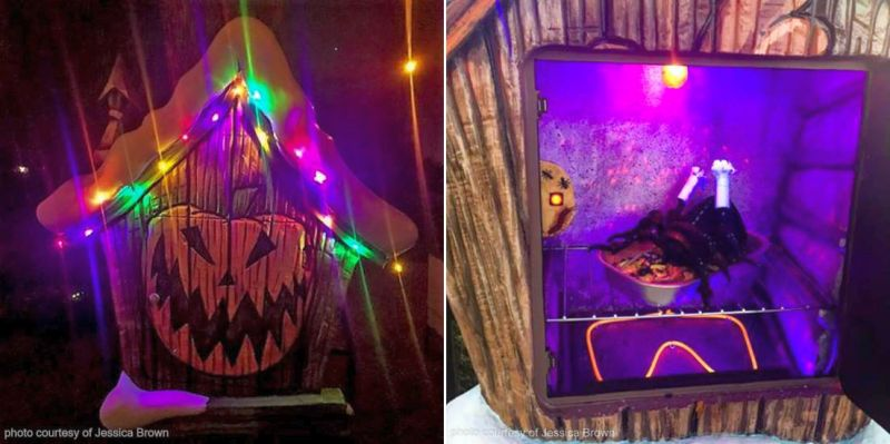 Nightmare Before Christmas themed moster house - Halloween Monster Home