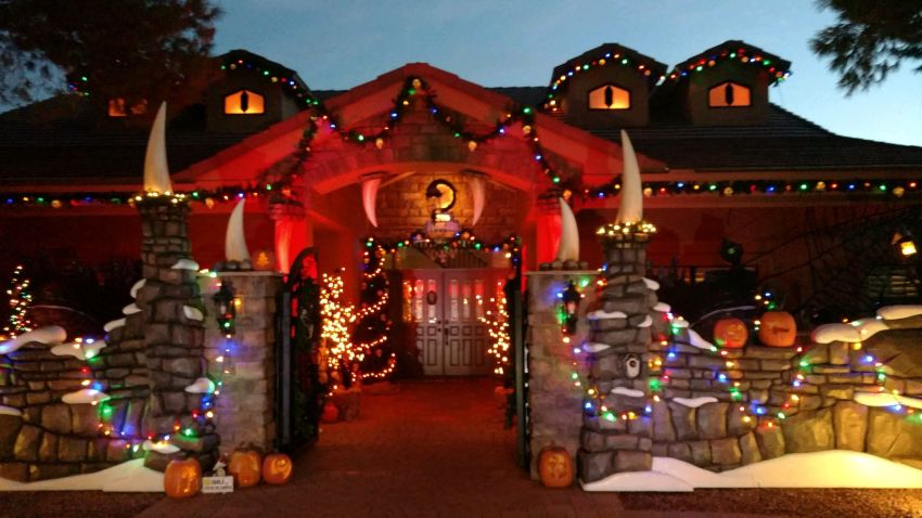 Nightmare Before Christmas Houses.The Nightmare Before Christmas Themed Monster House In Arizona