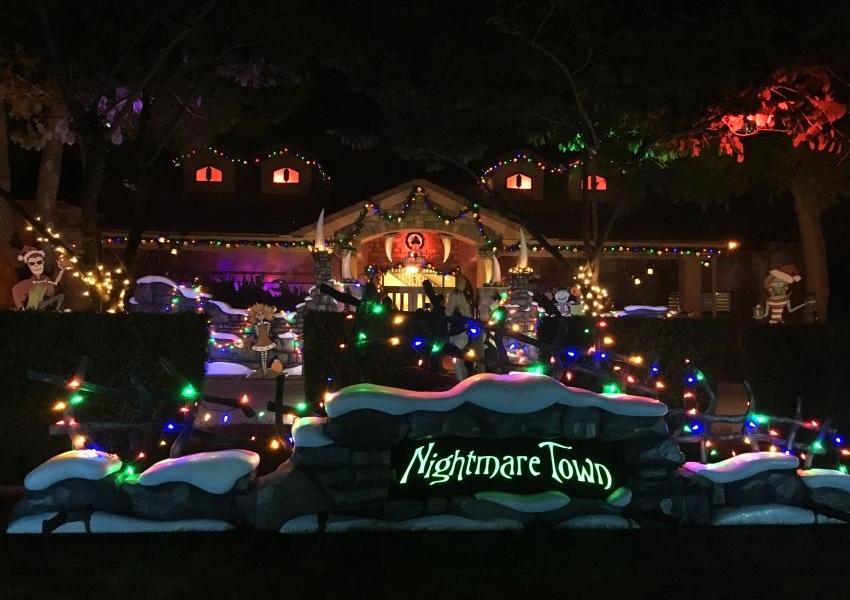 Christmas Halloween.The Nightmare Before Christmas Themed Monster House In Arizona