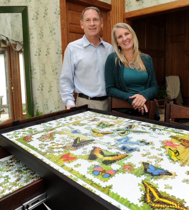 Puzzle Table by Ohio Couple is a hit on Facebook