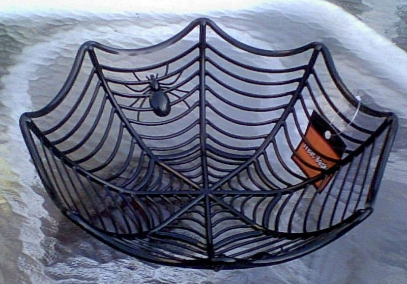 Spider web bowl for serving Halloween candy