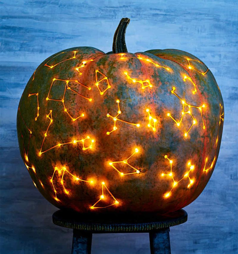 Starry Night Carved pumpkin