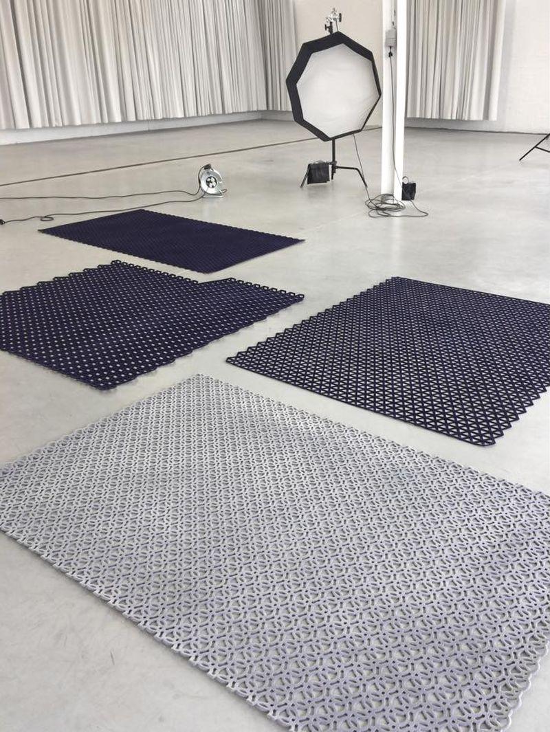 Studio Plott's 3D-Printed Rugs at London Design Festival 2018