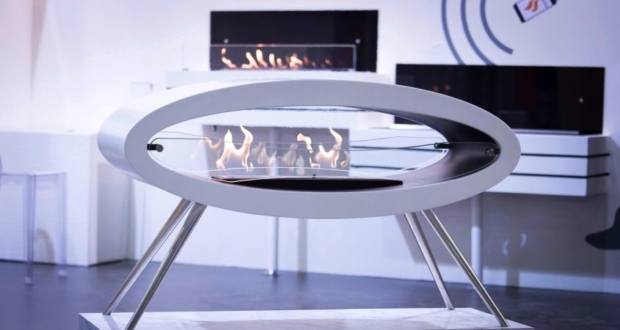 This Freestanding Bioethanol Fireplace from decoflame is Epitome of Luxury
