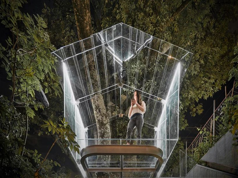 Transparent Glass Treehouse by Gerardo Broissin