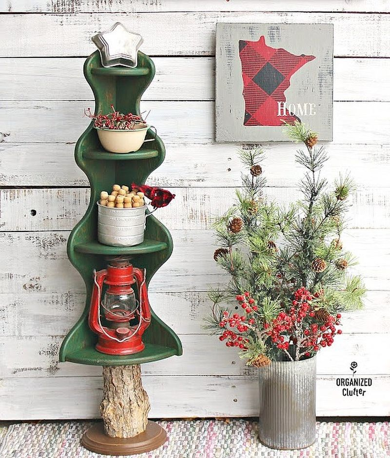Corner Shelf Christmas Trees