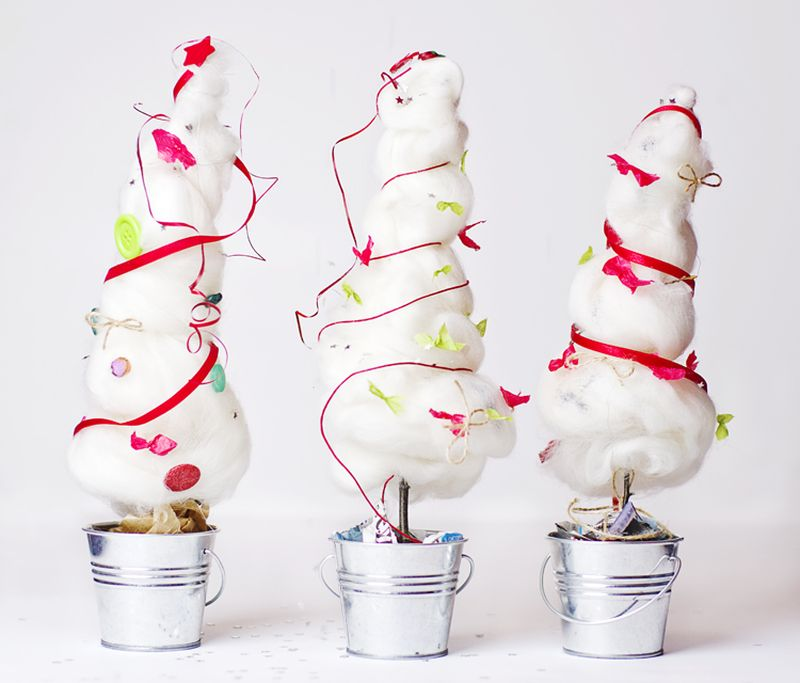 Cotton Christmas trees