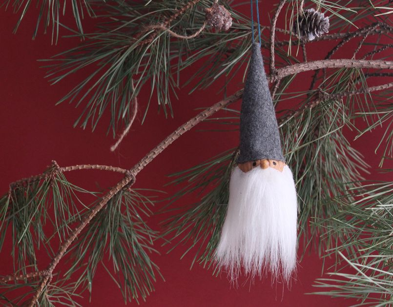 DIY Gnome Christmas Ornament