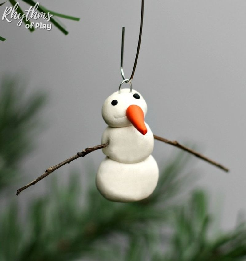 DIY Snowman Christmas tree ornament