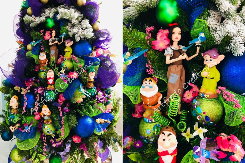 disney themed christmas tree by alfredo majuri vargas