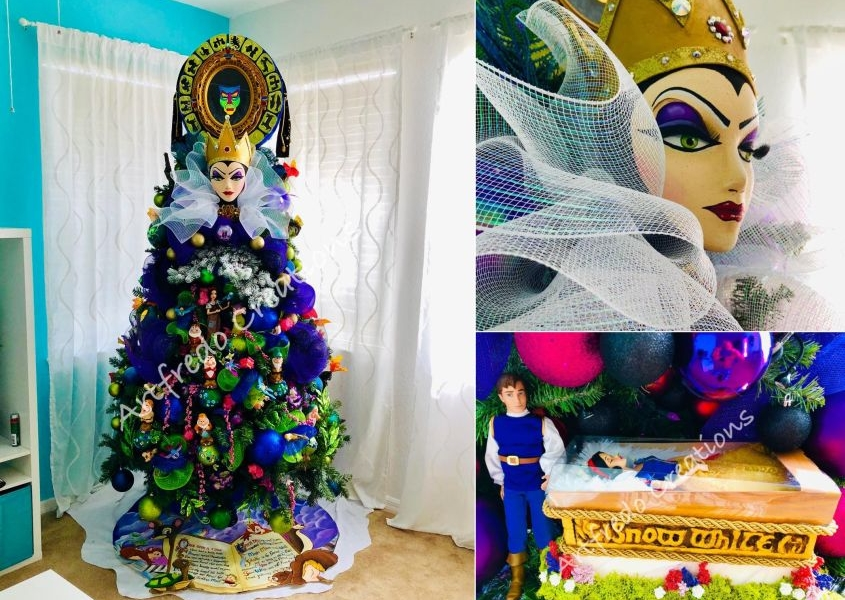 Disney-Themed Christmas Tree by Alfredo Majuri Vargas