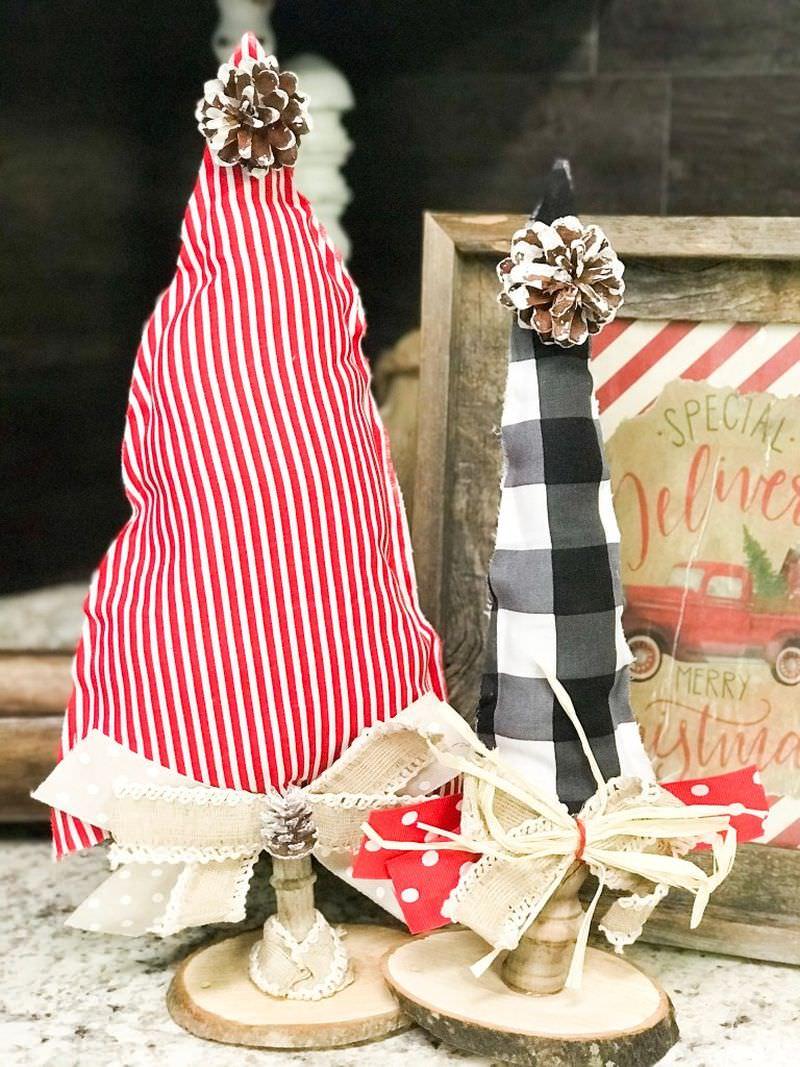 Fabric, Felt and Burlap Alternative Christmas Trees