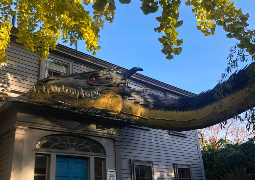Gigantic Dragon by Tom Saltsman - Outdoor Halloween Decoration ideas