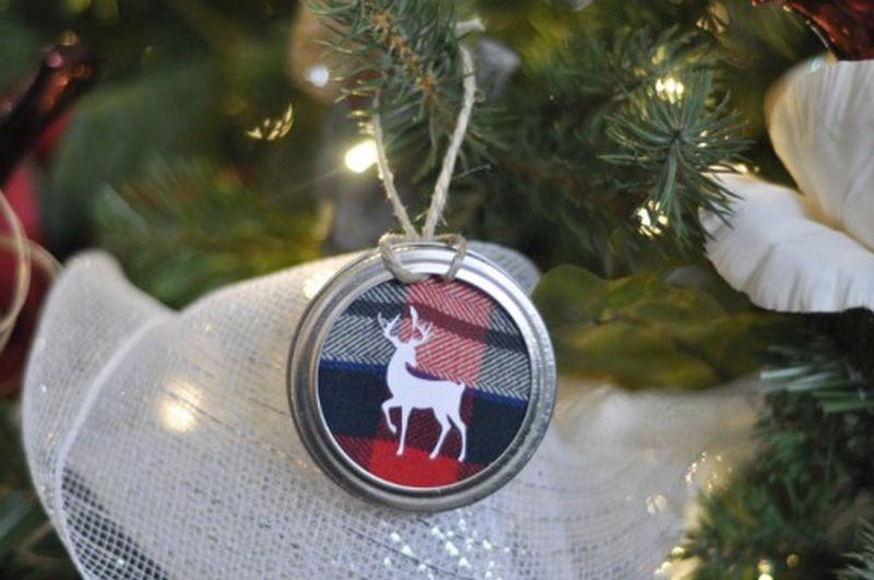 Mason Jar Christmas tree ornament