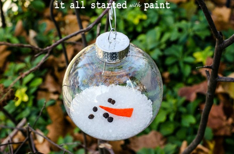 Melted Snowman Christmas tree ornament