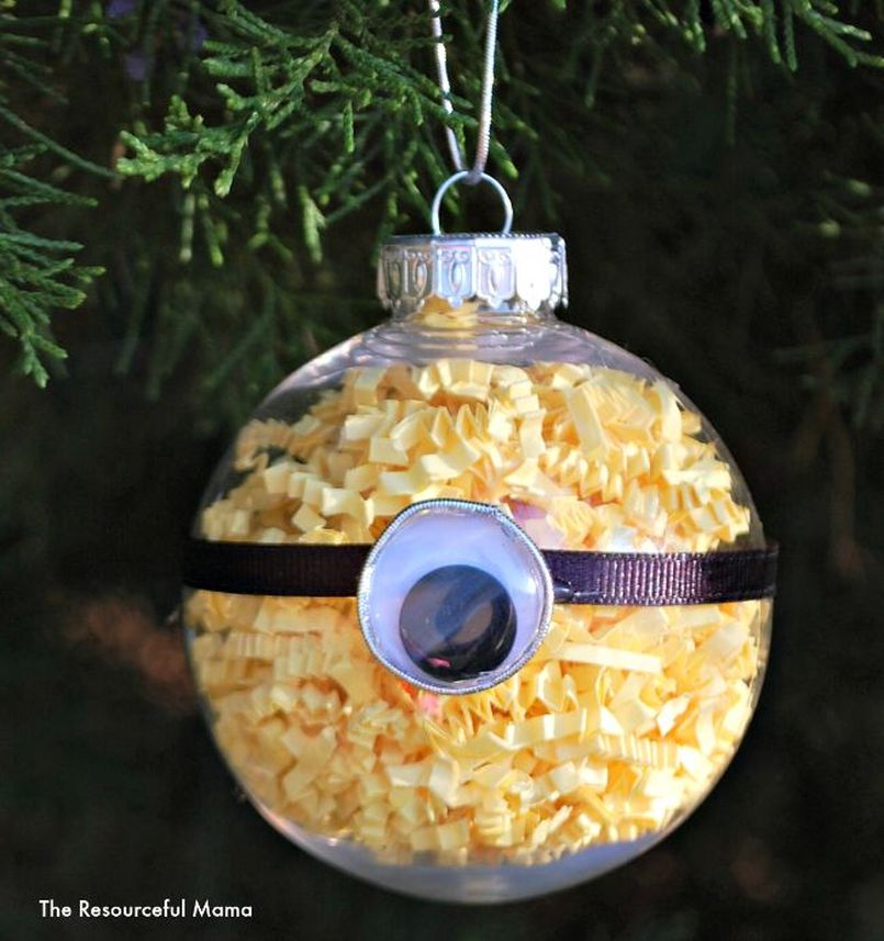Minion Homemade Christmas Tree Ornament