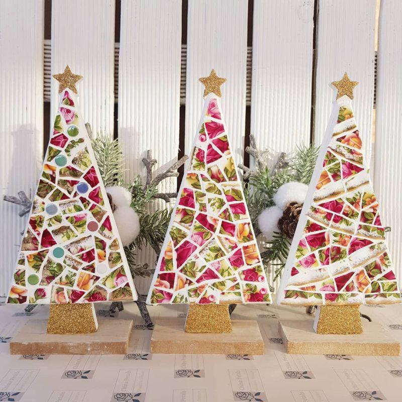 Mosaic Christmas Trees