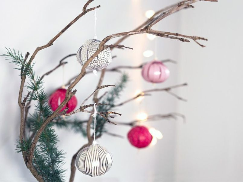 Paper Christmas Tree Baubles
