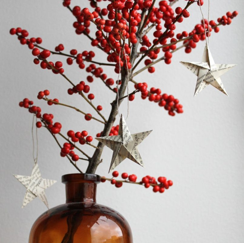 Paper Star Christmas Tree Ornaments