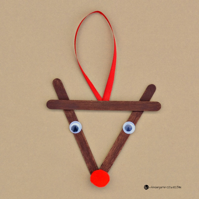Popsicle reindeer Christmas tree oranment