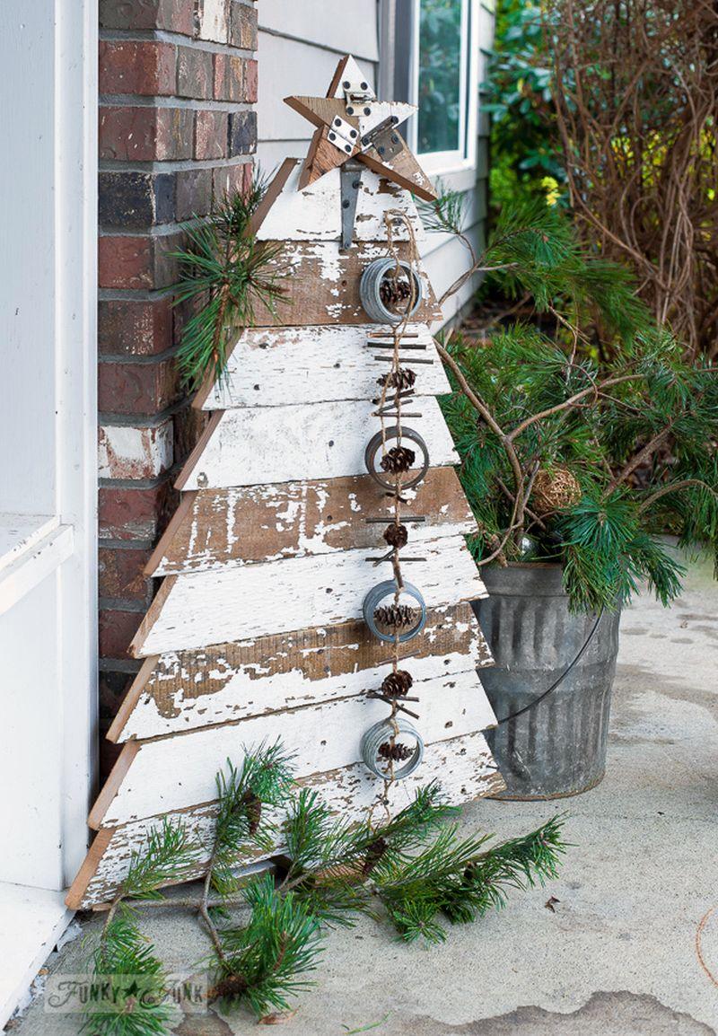 Reclaimed Wood Christmas Tree