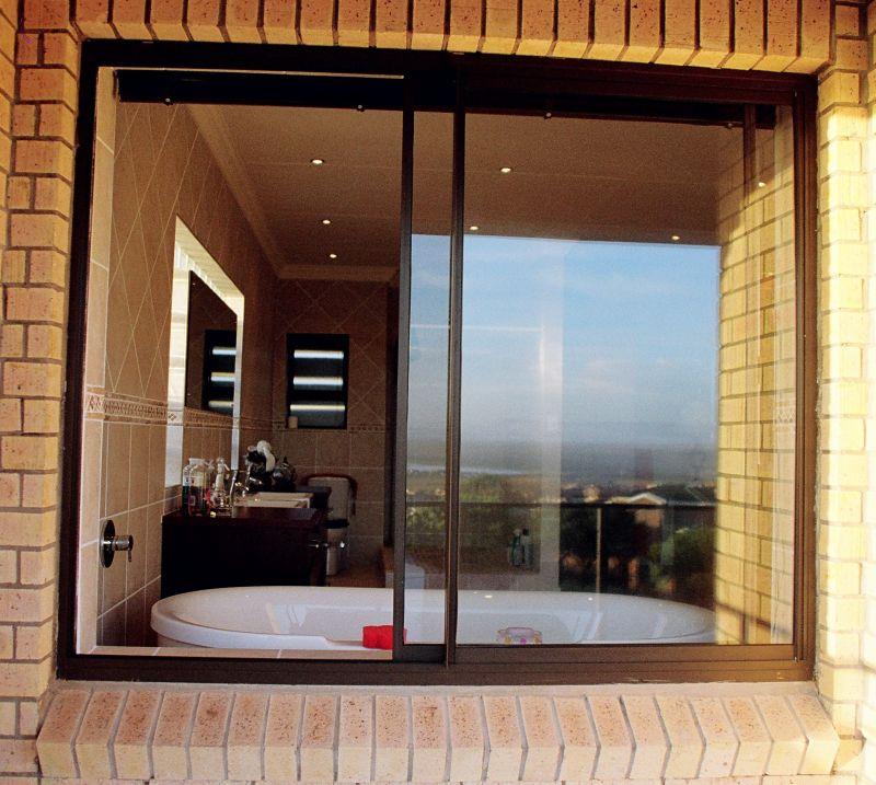 Modern Slider windows for bathroom