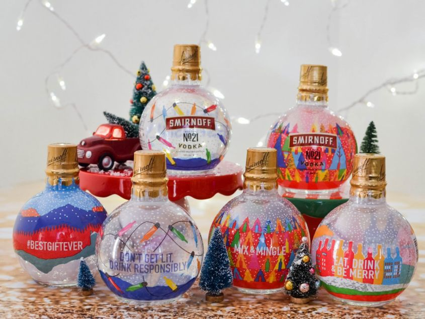 Smirnoff Releases Booze-Filled Christmas Ornaments