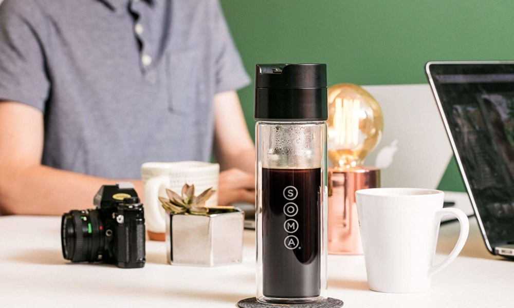 Soma Double Wall Glass Tea and Coffee Brew Bottle