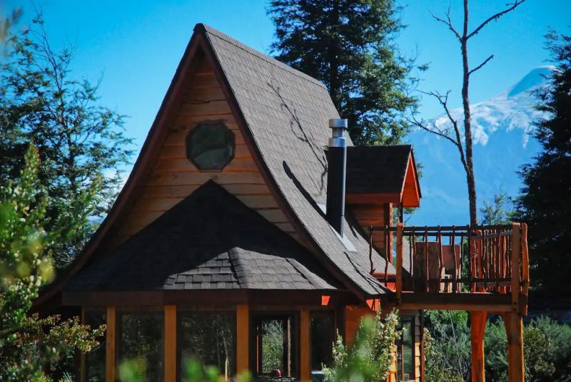Casanido Cottage Airbnb Rental in Chile Lets You Camp Right Next to a Volcano
