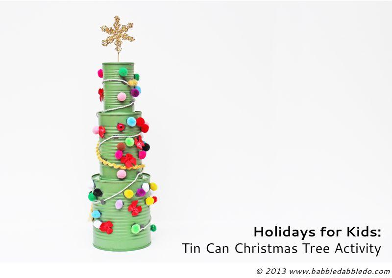 Tin Can Christmas Tree