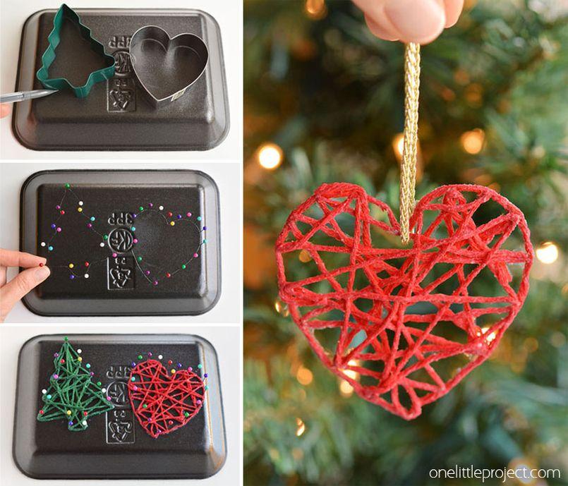 Yarn Christmas Tree Ornaments