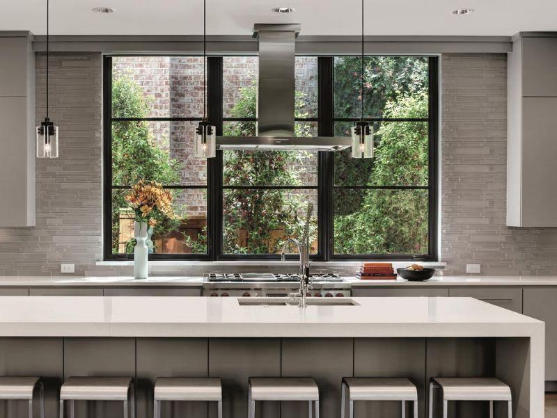 Modern casement windows for kitchen