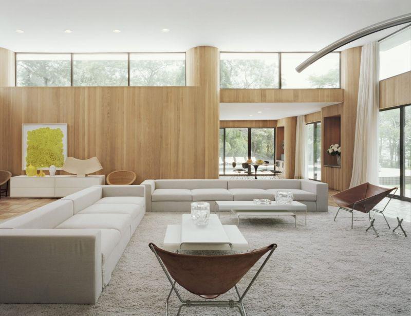 Modern clerestory windows design for living room
