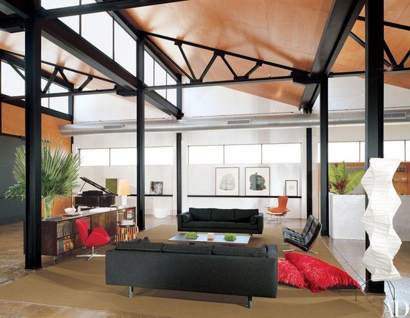 Modern clerestory windows for living room