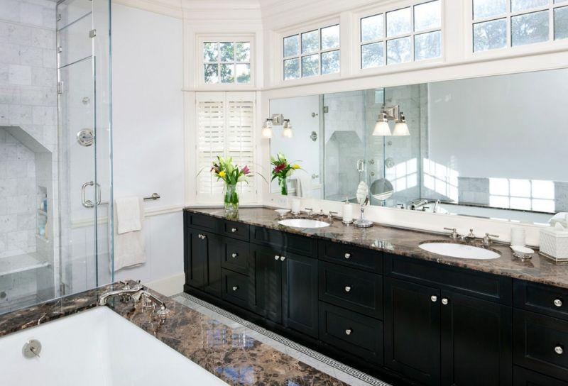 Modern clerestory windows for bathroom