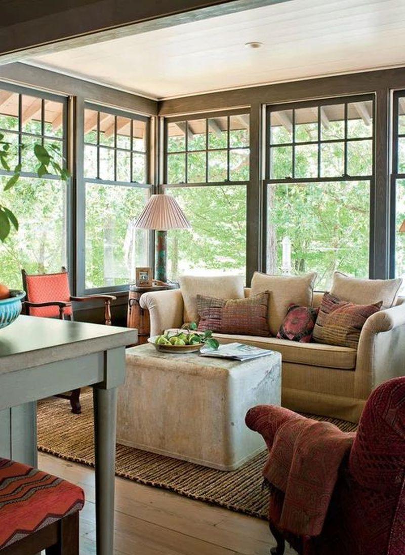 Modern corner windows for living room